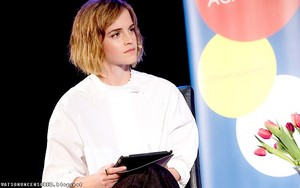 "Emma Watson at ""How To: Academy"" with Gloria Steinem"