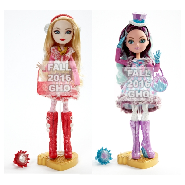 Ever After High Epic Winter mela, apple White and Madeline Hatter bambole