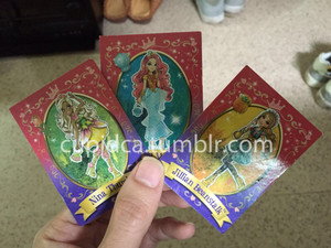 Ever After High Jillain,Nina and Meeshell poupées cards