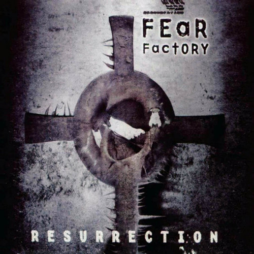 Fear Factory wallpaper possibly with a sign titled Fear Factory Resurrection Version 2