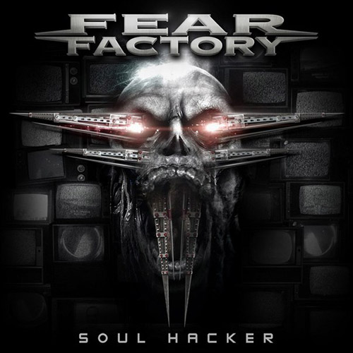Fear Factory Обои probably containing a pacific sardine and a sign entitled Fear Factory Soulhacker