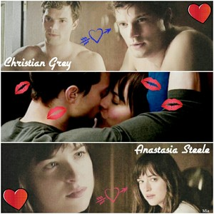 Fifty Shades of Grey Christian and Anastasia