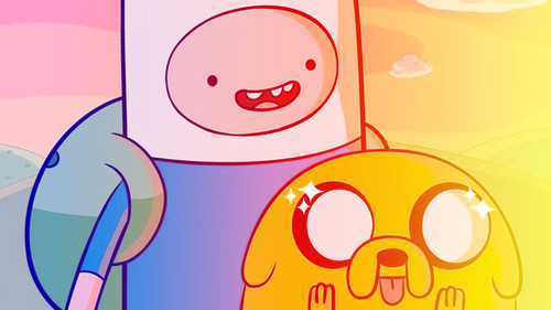 Adventure Time fond d'écran titled Finn e Jake (editada)