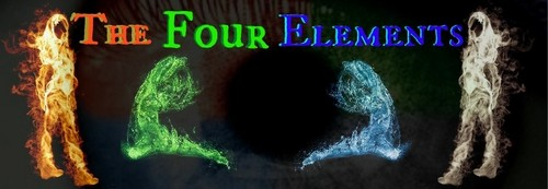 The Four Elements fond d'écran possibly with a sign entitled Fire, earth, water, air