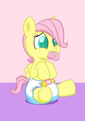 Fluttershy as a filly