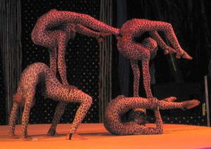 Four person contortion act