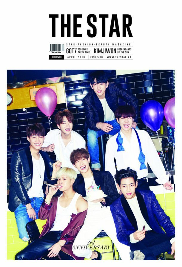 GOT7 have a party with 'The Star' magazine