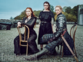 Sophie Turner, Maisie Williams, and Gwendoline Christie - game-of-thrones photo