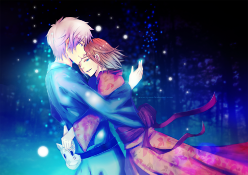 Hotarubi no Mori e wallpaper called Gin and Hotaru