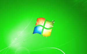 Green Windows 7 hình nền