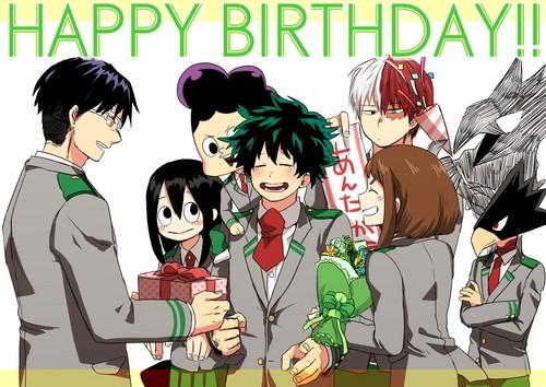 Boku no Hero Academia Hintergrund with Anime entitled Happy Birthday!!
