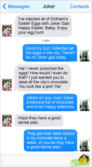 Happy Easter from Texts From Superheroes!