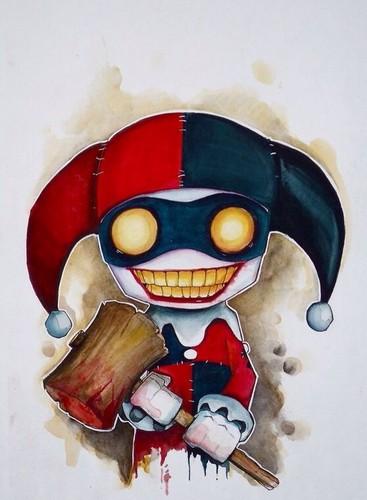 Harley Quinn wallpaper entitled Harley Quinn chibi