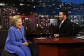 Hillary Clinton with Jimmy Kimmel