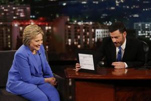 Hillary Clinton with Jimmy Kimmel