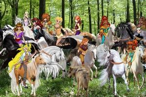 Hot Female Wolfriders had captured an entire Herd of Beautiful Wild Kuda