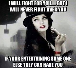 I will not fight for 你