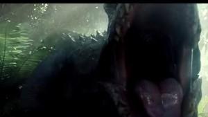 Indominus rex roaring