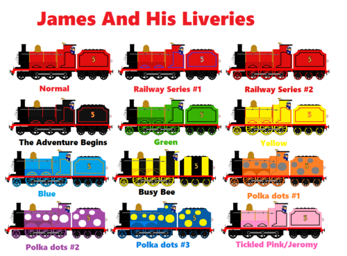 Thomas The Tank Engine Images James And His Liveries Hd
