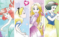 Japanese DP - Ariel, Rapunzel, Snow White and Alice