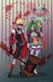 Joker and Harley Quinn genderswap  - batman fan art