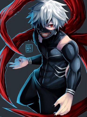 Tokyo Ghoul karatasi la kupamba ukuta possibly with anime entitled Ken Kaneki