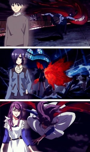 Ken, Touka and Rize
