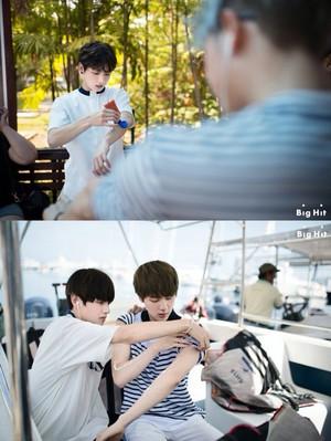 Kookie, Jin, Taehyung