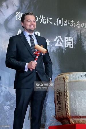 """Leo in """"The Revenant"""" Tokyo Premiere"""