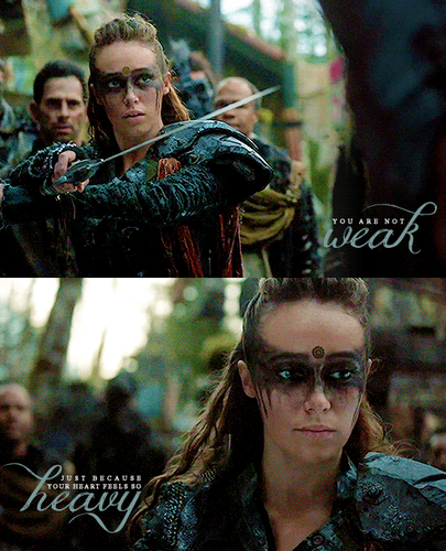 Clarke and Lexa fond d'écran entitled Lexa