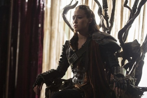 Commander Lexa (The 100) fond d'écran probably containing a surcoat, surcot called Lexa