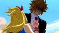 Loke saves Lucy - anime photo