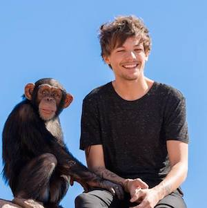 Louis Tomlinson and chimpanzee