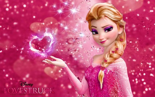 Frozen wallpaper entitled Amore Elsa