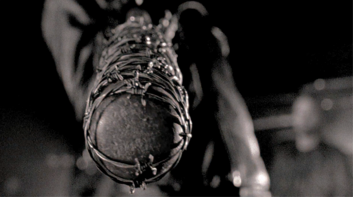 The Walking Dead پیپر وال probably containing a running shoe entitled Lucille