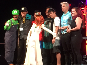 Luigi and margherita at the Kawaii Kon Karaoke Finals!