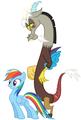 MLP Fanart Rainbow Dash and Discord - discord-my-little-pony-friendship-is-magic fan art