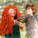 Merida and Hiccup - disney-crossover icon