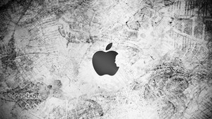 Messy manzana, apple fondo de pantalla
