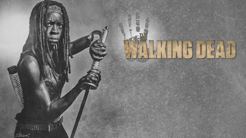 The Walking Dead karatasi la kupamba ukuta entitled Michonne