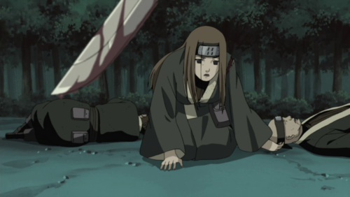 Naruto Shippuuden wallpaper titled Miru about to be killed by Kisame