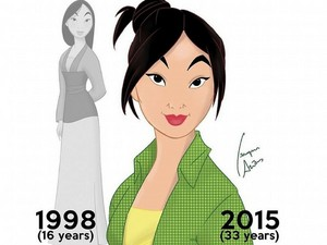 Mulan then and now (at age 33)