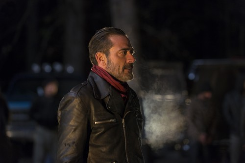 The Walking Dead wallpaper possibly containing an overgarment called Negan