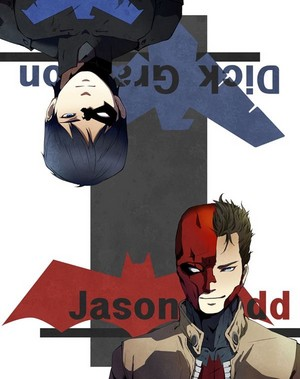 Nightwing and Red kap, hood