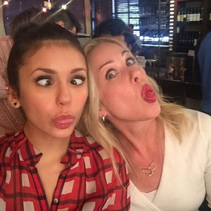 Nina Dobrev and Christina Applegate