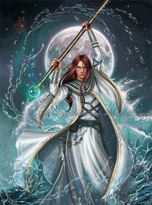 Palin Majere casting water magic spell