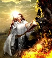 Palin casting Light of Magius