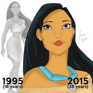Pocahontas then and now (at age 38)