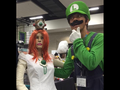 Princess Daisy and Luigi in Kawaii Kon's Artist Alley!  - luigi photo
