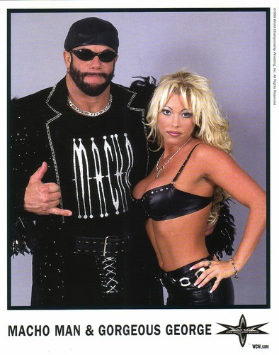 World Championship Wrestling Hintergrund with a bikini called Randy Savage With Gorgeous George Foto